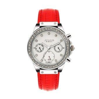 ราคา Julius นาฬิกาข้อมือผู้หญิง สีแดง สายหนัง รุ่น JA-815