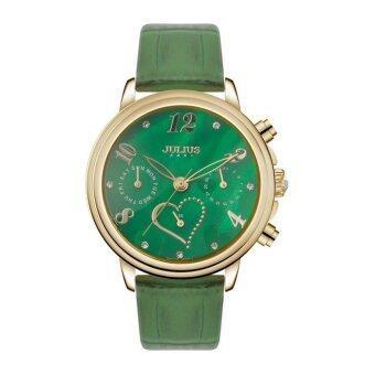 ราคา Julius นาฬิกาข้อมือผู้หญิง สีเขียว สายหนัง รุ่น JA-844