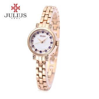 Julius JA - 883 Women Quartz Watch Artificial Diamond Dial SlenderBand Wristwatch - intl