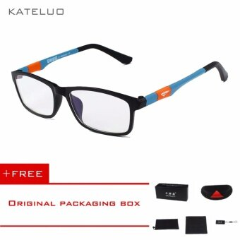 KATELUO 2016 New Brand Reading Glasses Men Woman Computer UV Glasses Fatigue Radiation eyeglasses Myopia Frame Black White Bule 13022Blue Buy 1 Get 1 ...