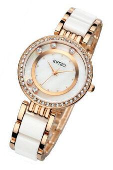 Kimio นาฬิกาข้อมือผู้หญิง สาย Alloy รุ่น K485 - สีขาว/ทอง รีวิว
