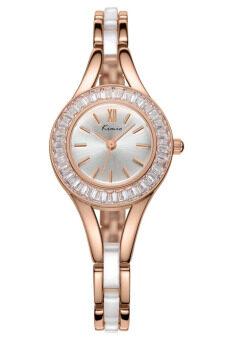 Kimio นาฬิกาข้อมือผู้หญิง สีโรสโกล์ด สาย Alloy รุ่น KW6025