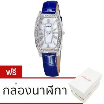Kimio นาฬิกาข้อมือผู้หญิง สีน้ำเงิน สายหนัง รุ่น KW516S-S0108