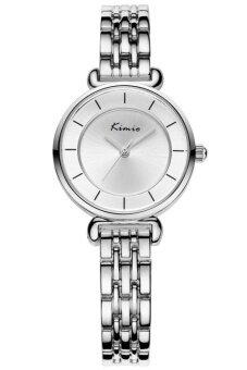 Kimio นาฬิกาข้อมือผู้หญิง สีเงิน/ขาว สายสแตนเลส รุ่น KW6028
