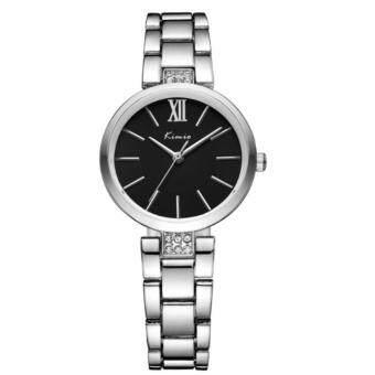 ราคา Kimio นาฬิกาข้อมือผู้หญิง สีเงิน/ดำ สายสแตนเลส รุ่น KW6133