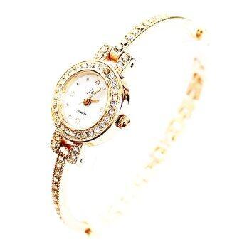 King girl Lady Watch นาฬิกาหน้าปัดกลมล้อมเพชร Rose Gold 1170