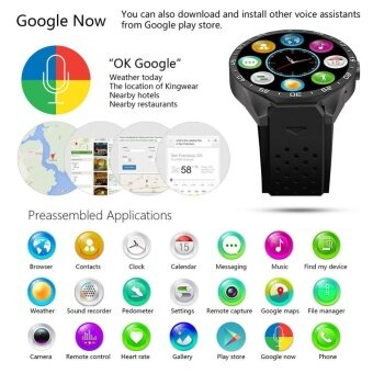 KINGWEAR KW88 Bluetooth Wifi 3G Quad Core Android 5.1 Smart Watch Camera GPS SMS 282646410925 - intl