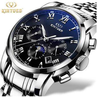 KINYUED Top Brand Mechanical Watch Luxury Men Business WatchsStainless Steel Band 3ATM Waterproof Calendar Function Mens FamousMale Watches Clock For Men Wrist Watch - Int'L