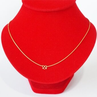 KPshop สร้อยคอทอง ขนาด 2 สลึง ชุบทองแท้ ยาว 24 นิ้ว