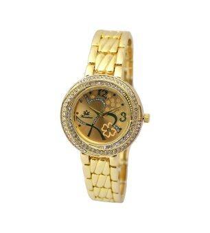 ราคา Kratree นาฬิกาข้อมือหน้าปัดแฟชั่นสีทอง สายสแตนเลสสีทอง