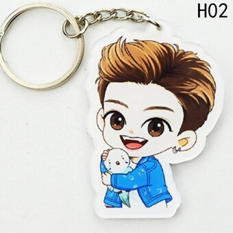 Kuhong K-pop GOT7 Voice Keyring MARK JACKSON YOUNGJAE JB SiliconeKey Chain Key Ring (Mark) - intl
