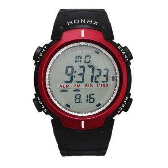 ประเทศไทย KY นาฬิกาข้อมือสปอร์ต กันน้ำได้ มัลติฟังก์ชั่นดิจิตอล รุ่น HONHX01 สีแดง