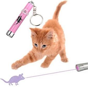 จัดโปรโมชั่น สัตว์เลี้ยงแมวโต้ตอบปากกาเลเซอร์พอยเตอร์ Led ฝึกเล่นละคร