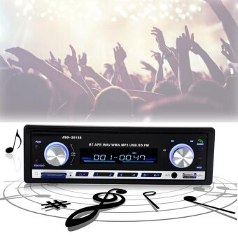 leegoal Car Stereo Audio BOYIYA JSD-20158 Car Single DIN AudioStereo SD MP3 Player Wireless Remote Radio Receiver Built-inBluetooth(Blue Bulb) - intl