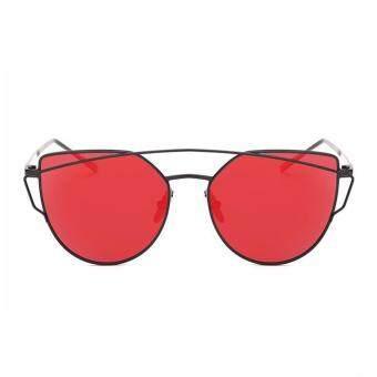 ... Sunscreen Anti-UV Color FilmSunglasses Black And Red – intl. leegoal Fashion Women Sunglasses