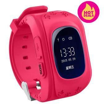 Leegoal นาฬิกาข้อมือนาฬิกาเด็กเอสโอเอสโทรตู้ GPS/GSMต้ายหายนาฬิกาสมาร์ทสำหรับเด็ก สีแดง