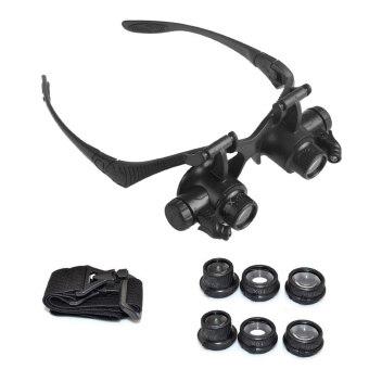 แว่นตาแว่นขยาย LETSBAY 10 x 15 x 20 x 25 x ช่างซ่อมนาฬิกา ledดวงตาคู่ขยาย (10 x 15 x 20 x 25 x สองตา)เสียงแตรไฟฟ้าซ่อมแว่นตาช่างนาฬิกา เครื่องเพชรพลอยประเมิน ซ่อมนาฬิกาและรูปแกะสลัก