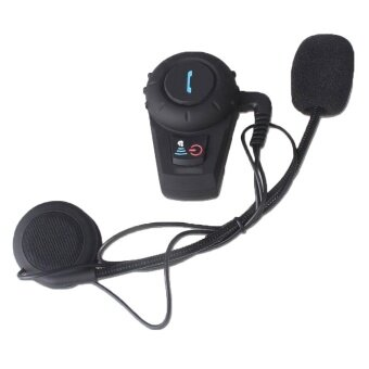 linxing GPS Interphone Bluetooth Motorbike Helmet Intercom Headset(Black500mUK Plug) - intl