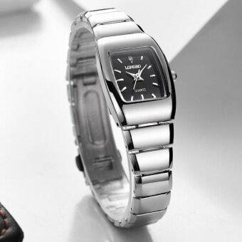 LONGBO Fashion Lovers Alloy Band Sport Business Quartz Square Watch Wristwatches 9195 - intl