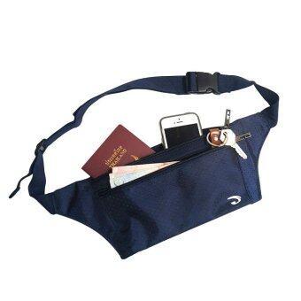 จัดโปรโมชั่น Lotte กระเป๋าคาดเอว แนบตัว กันน้ำ ซิปแข็งแรง 3 ช่อง - JA1002(สีกรมท่า)