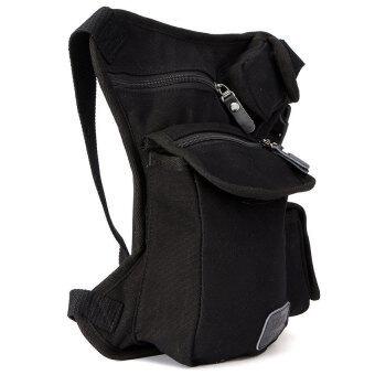 Lucky Mens Multi-Purpose Canvas Motorcycle Riding Fanny Pack Waist\nLegThigh Drop Bag Black - intl
