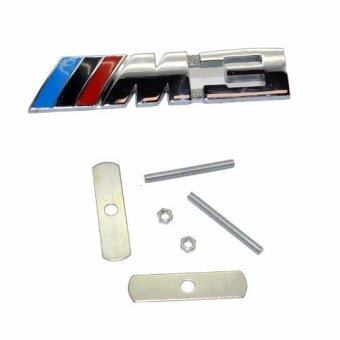 Harga M3 Motorsport Metal Logo Car Sticker Rear Trunk Emblem Grill Badgefor BMW E46 E30 E34 E60 E90 F10 F30 M3 - intl