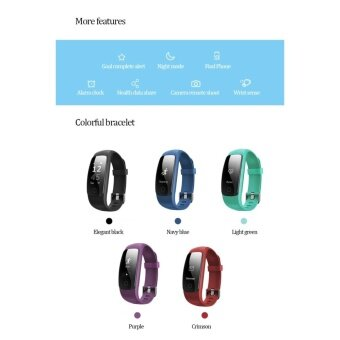 Makibes ID107 Plus Bluetooth Smart Bracelet Activity Sports Trackerwith Heart Rate Tracker Bracelet For Android/ios