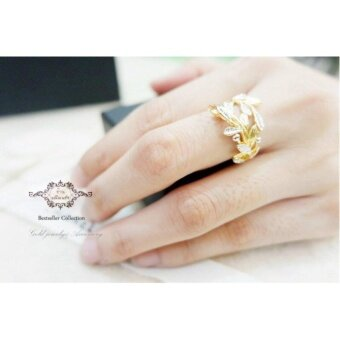ManeeNopparut มณีณพรัช แหวน ใบมะกอก รุ่น RW057