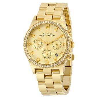 ประเทศไทย Marc by Marc Jacobs Women s MBM3105 Henry Gold-Tone Stainless Steel Bracelet Watch