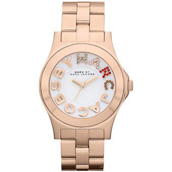 ประเทศไทย Marc-Jacobs Rivera Rose Gold Watch MBM3138
