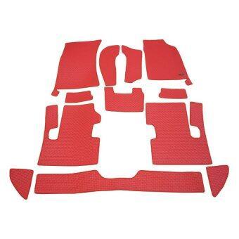 Matpro พรมปูพื้น ลายกระดุม ชุด Full Coverage Set 12 ชิ้น สำหรับISUZU D-MAX CAB SUPER DAY LIGHT - Red