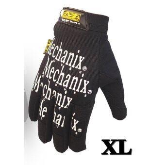 ถุงมือ มอเตอร์ไซค์ จักรยาน เต็มนิ้ว Mechanix Wear M-Pact Outdoorsport Size XL สี Black-White