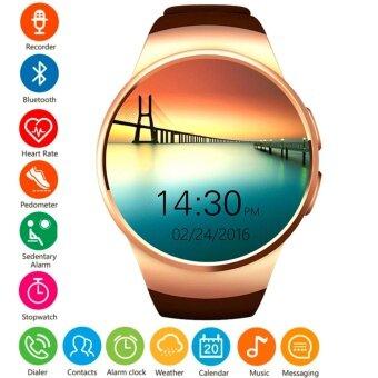 ประเทศไทย MEGA Fashion Smart Watch with Bluetooth and Heart Rate Monitor รุ่น SM0063 (Gold)