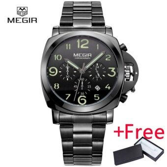 Megir Fashion Casual Top Brand Quartz Watch นาฬิกาข้อมือ es Men Leather Sports Watch นาฬิกาข้อมือ Man Business Wrist Watch นาฬิกาข้อมือ Male Luminous Chronograph Hour
