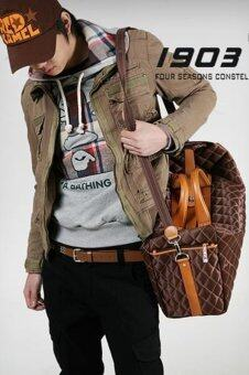 Men Concept กระเป๋าเดินทาง ใบใหญ่ รุ่น IN1545 (สีน้ำตาล)