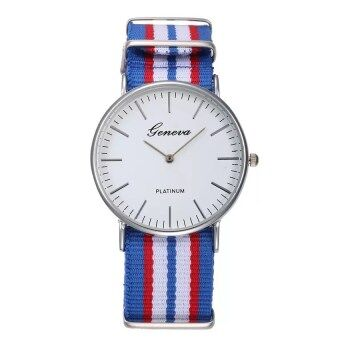 Men Male Quartz Watch Fashion Casual Geneva Fabric Nylon Canvas Military Wrist Watch 4
