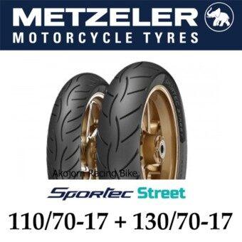 Metzeler Sportec Street ขนาด 110/70-17 +130/70-17 (CBR150R15M-SlazCR5)(ยางนอกมอเตอไซค์)