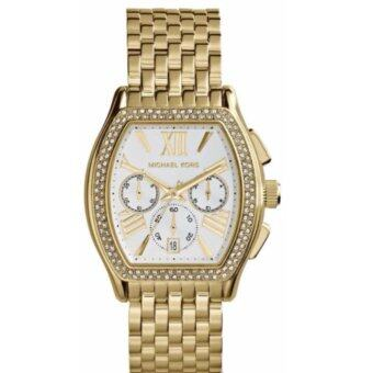2561 MICHAEL KORS Amherst Chronograph Silver Dial Gold-plated Ladies Watch MK5898