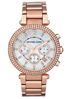 Michael Kors Chronograph Bracelet Stanless Strap Watch MK5491 - Pink Gold