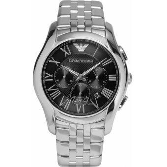 ราคา Michael Kors EMPORIO ARMANI Classic Chronograph Black Dial Stainless Steel Men s Watch AR1786(Black)