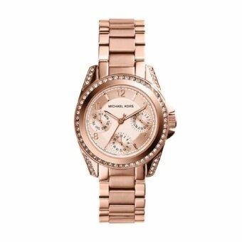 Michael Kors นาฬิกาข้อมือผู้หญิง สายสแตนเลส รุ่น MK5613 - Rose Gold