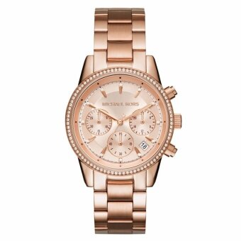 Michael Kors Ritz Rose Gold Chronograph Watch 37mm MK6357