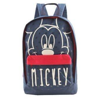 Mickey Mouse กระเป๋าเป้ กระเป๋านักเรียน สะพายหลัง(Black)