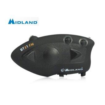 ซื้อ MIDLAND BTX1 Bluetooth Motorcycle Helmet Intercom Headset Water-resistant Interphone - intl