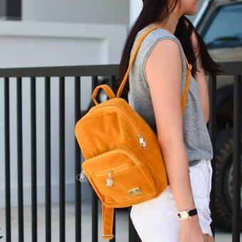 MilesKeeper mini backpack ผ้าสักหลาด รุ่น 205 - Gold