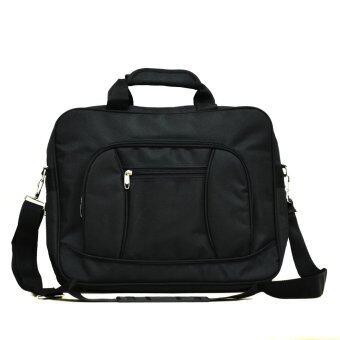 MilesKeeper กระเป๋าสะพายใส่เอกสารและโน๊ตบุ๊ค ขยายขนาดได้ ผ้าหนา\nทนทาน รุ่น MSG04 (Black)