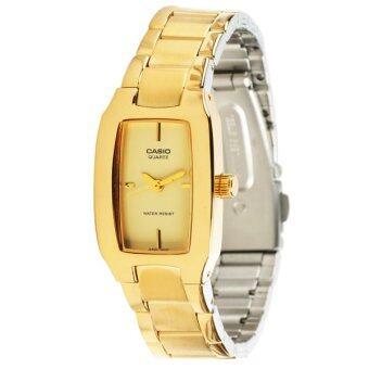 MIN WATCH Casio Standard Lady นาฬิกาข้อมือผู้หญิง สีทอง สายสแตนเลสสตีล รุ่น LTP-1165N-9C