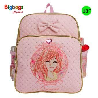 Minmie กระเป๋าเป้สำหรับเด็ก เป้สะพายหลัง กระเป๋านักเรียน 13 นิ้ว รุ่น MM270 (Pink)