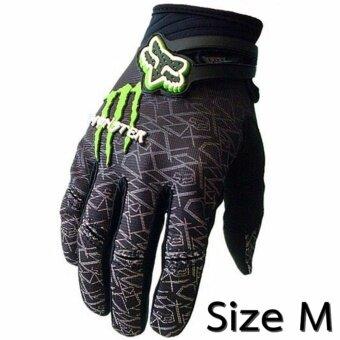ถุงมือ ขี่ มอเตอร์ไซค์ ปั่น จักรยาน เต็มนิ้ว Monster Fox GlovesSize M