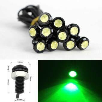 ขั้นตอนการสั่งซื้อ Moonar 2pcs 18mm 9W LED Eagle Eye Bulb Car Fog Daytime ReverseSignal DRL Running Light (Red) - intl